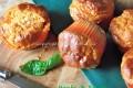 Muffin al tacchino con pomodoro e basilico