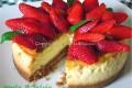 Cheesecake di ricotta con fragole e confettura