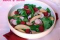 Insalata di ravanelli, lamponi e mela