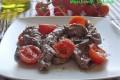 Stracetti di manzo piccanti con pomodorini
