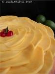 Crostata morbida con crema al profumo di lime e mango